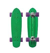 "Globe Bantam Retro Authentic Vinyl Plastic Cruiser Skateboard Complete 24"" Green/Silver/Purple"