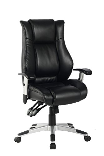 VIVA OFFICE Hot High Back Bonded Leather Executive Chair with Upgraded Arms Leather Adjustable Arms