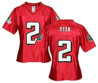 Atlanta Falcons MATT RYAN #2 NFL Womens Dazzle Jersey, Red (Medium)