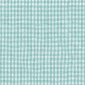 Green Gingham Moses Basket Sheet - Size: 11 X 29 front-1018313