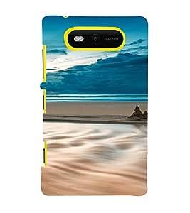 PrintVisa Travel Beach Art Design 3D Hard Polycarbonate Designer Back Case Cover for Nokia Lumia 820