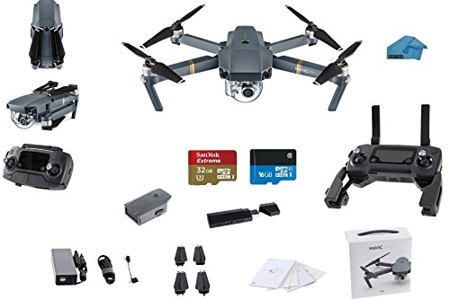 DJI-Mavic-PRO-Portable-Collapsible-Mini-Racing-Drone-with-32GB-Sandisk-Extreme-SD-Card-30-Card-Reader-Koozam-Cleaning-Cloth