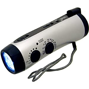 LED Emergency Flashlight with hand crank
