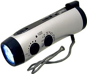 Kaito KA404 Emergency Hand Crank Dynamo 5-LED Flashlight with AM FM radio by Kaito