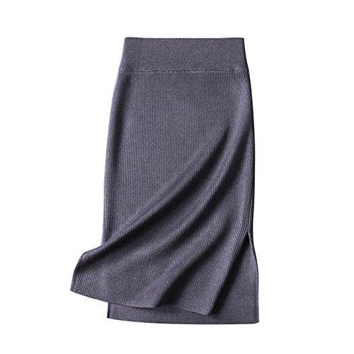 saideng-mujeres-de-talle-alto-tricotado-midi-falda-lapiz-bodycon-rajas-laterales-falda-gris