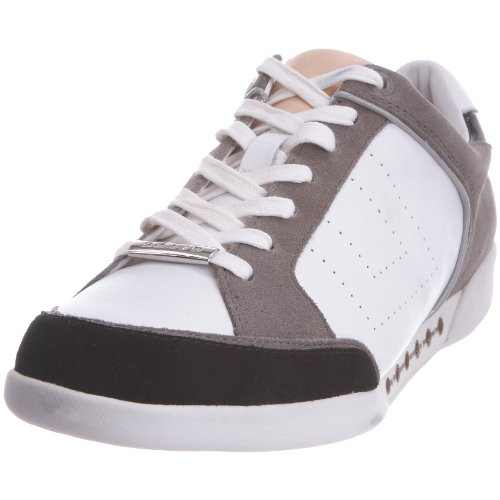 Skive Men's Falkirk White/Grey/Black Trainer SF-S10-WHTBLK 12 UK