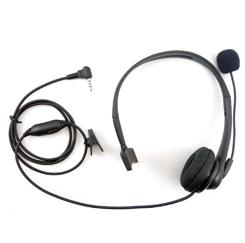 Noise Cancelling Headset Earpiece Boom Microphone For 1 Pin 3.5Mm Yaesu Vertex Radio Vx-354 Vx-410 Vx-420 Vx-427 Etc.