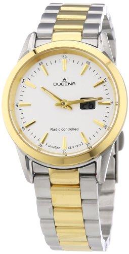 Dugena Dugena Basic 4460477 - Reloj analógico de cuarzo para mujer, correa de acero inoxidable chapado multicolor (radio)