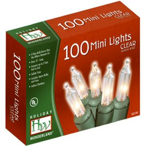 Holiday Wonderland 100-Count Clear Christmas Light Set