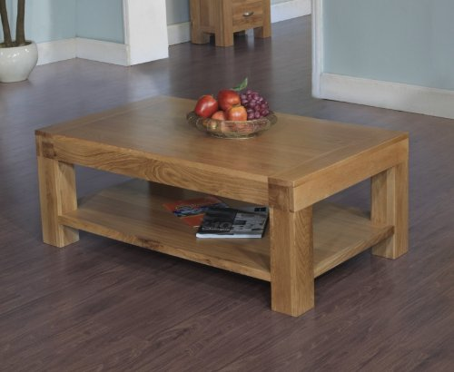Plaza Rustic Oak Furniture Coffee Table 1200 x 700mm