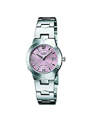 Casio Enticer Analog Pink Dial Mens Watch - LTP-1241D-4ADF (A873)
