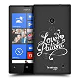 Head Case Love Is Patient Hand Drawn Typography Back Case For Nokia Lumia 520
