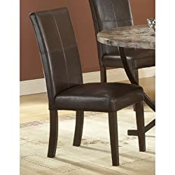 Hillsdale Monaco Side Parson Chair, Matte Espresso, Set of 2