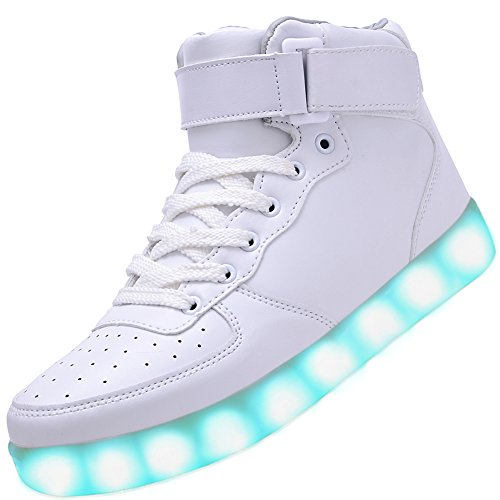 e03aab726c04 Odema Women High Top USB Charging LED Shoes Flashing Sneakers - Light-Up  Shoes