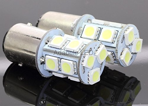 Car 1157 Bay15D 13 Led White Tail Turn Brake Signal Bright Light Bulb Lamp L110 @ Ba15S 1073 1093 1129 1141 1159 1259 1464 Compare To Sylvania Osram Phillips Piaa
