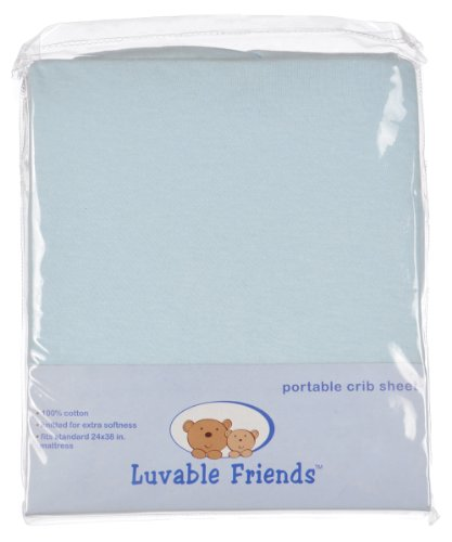 New Luvable Friends Fitted Portable Crib Sheet