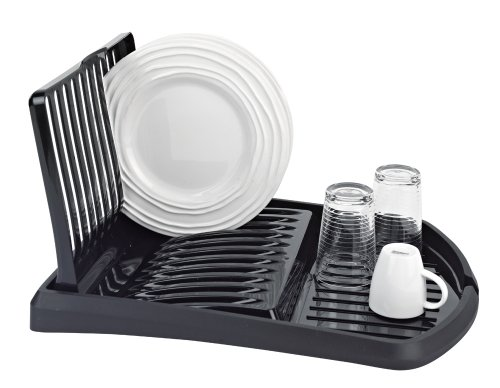 Flip-Up Dish Rack and Drain Board, Black