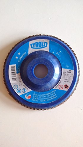 Tyrolit-Disco lamellare 125mm, grana 40Inox, Inox, metallo-10pezzi [proprio]