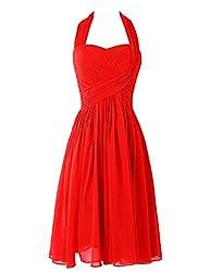 Dresstells® Women's Short Halter Chiffon Party Hoemcoming Dress Bridesmaid Dress