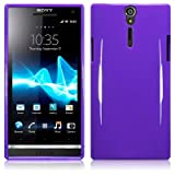 Sony Xperia S LT26i Tpu Gel Skin Case / Cover - Solid Purple Part Of The Qubits Accessories Rangeby TERRAPIN