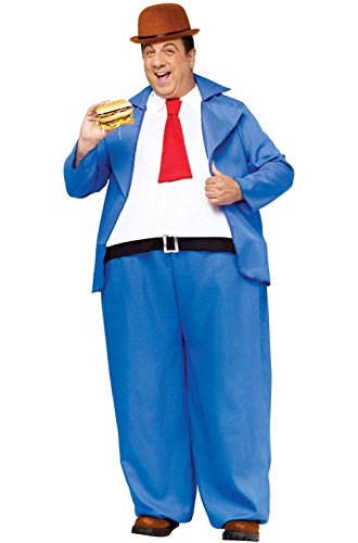 Mememall Fashion Popeye Wimpy Hoop Jumpsuit Adult Costume (Wimpy Adult Costume)