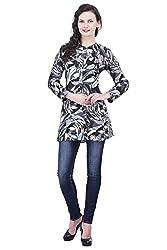 Trendif Camouflage Print Poly Crepe Shirt