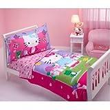 Hello Kitty - Springtime Friends 4-piece Toddler Bedding Set