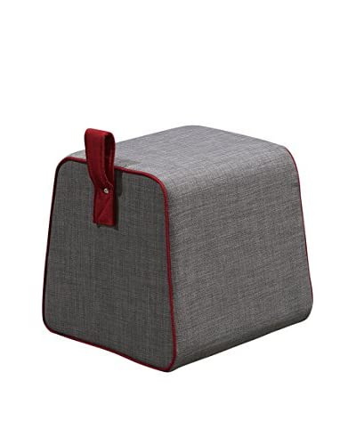International Designs USA Purse Ottoman, Grey
