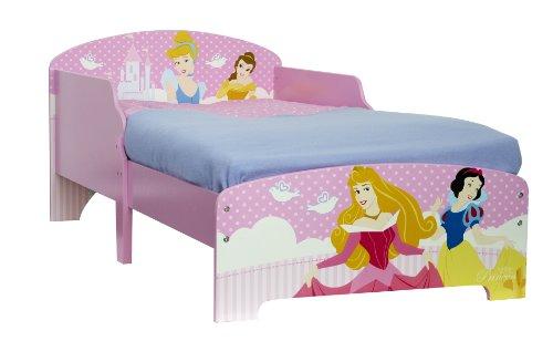 Worlds Apart 863636 Moderne Lit Disney Princesses MDF Rose 145 x 77 x 59 cm