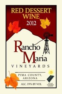 2012 Rancho Maria Vineyards Red Dessert Wine 375 Ml