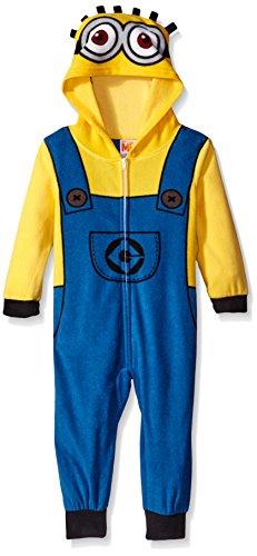 Despicable Me Boys' Toddler Boys' Minions Uniform Union Suit, Yellow, 3T