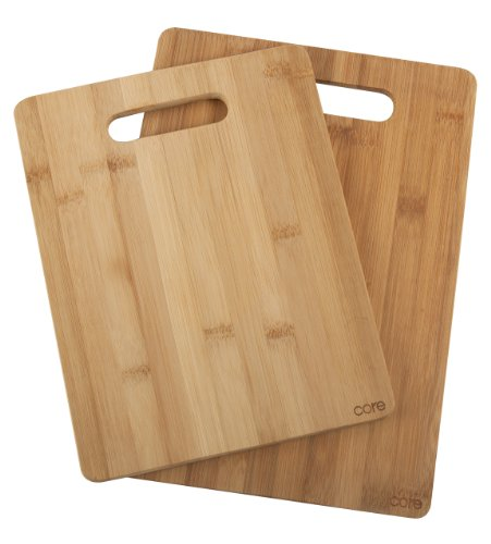 Core Bamboo 2 Pack Bamboo Board Set, One Tone