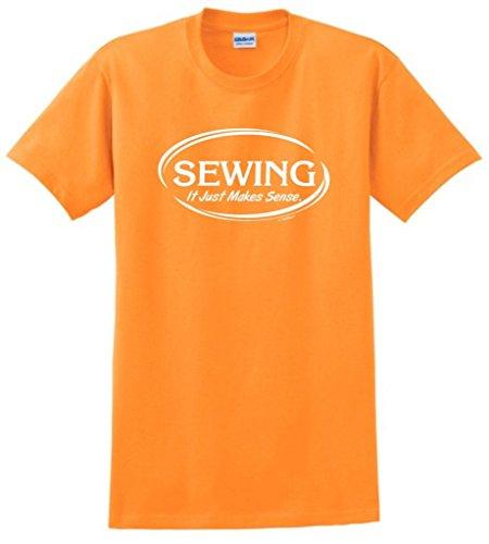 Sewing It Just Makes Sense T-Shirt Large Tangerine