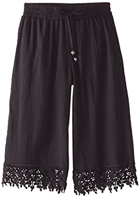 My Michelle Big Girls' Culotte Pant with Crochet Trim At Hem and Tie Waistband from My Michelle Girls 7-16