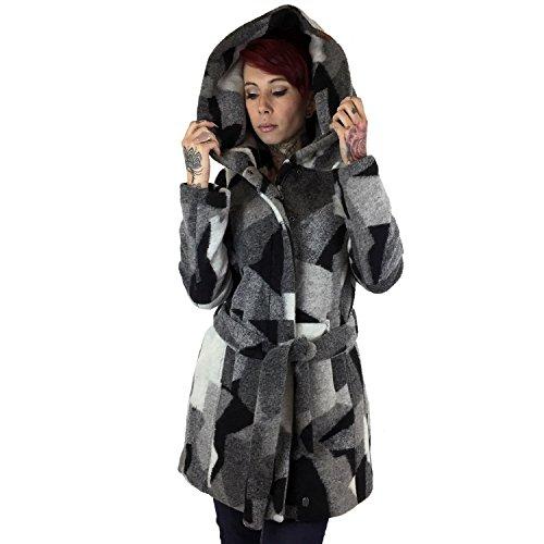 khujo -  Giacca  - Parka - Basic - Collo mao  - Maniche lunghe  - Donna E03 multi pattern XL