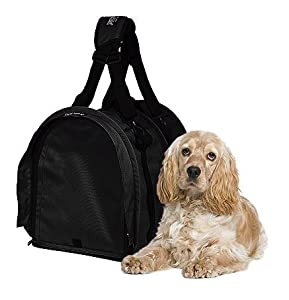 Sturdibag Extra Large Pet Carrier Flexible Height Pet Tote, Black,Size XL { 20