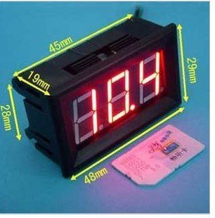 """3 Digits 0.56"""" 3 Wire Dc 0-100V Red Led Digital Voltmeter Voltage Display Module With Reverse Protection"""