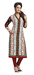 AMP IMPEX Ethnicwear Women's KURTI FABRICS MULTI-COLOURED_Free Size