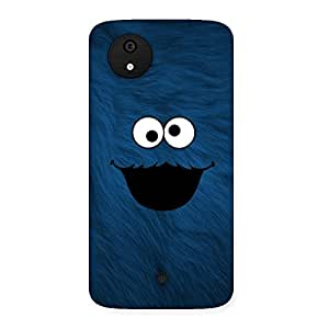 Ajay Enterprises Blue Funny Ghost Back Case Cover for Micromax Canvas A1