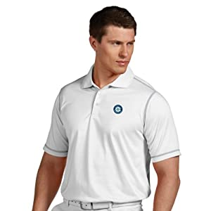 MLB Seattle Mariners Mens Icon Desert Dry Polo by Antigua