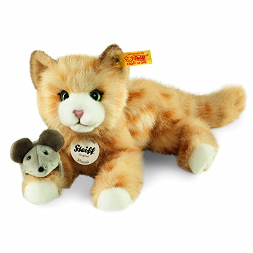 Steiff 099434 - Mimmi Katze 24 gestromelt liegend,