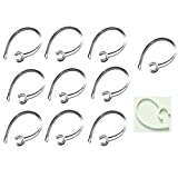 10 Pack Clear Heavy Duty Samsung compatible Replacement Ear Hooks HM1900 HM 1900 Clear & 1 Free White NoBreak