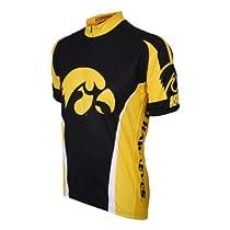 NCAA Iowa Cycling Jersey, Black/Yellow, Large