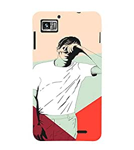PrintVisa LENK860-Man Blinded Lights Plastic Back Cover for Lenovo K860 (Multicolor)