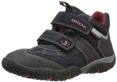 Geox J BALTIC B. WP C J3442C05022C0735, Jungen Sneaker, Blau (NAVY/RED C0735), EU 32
