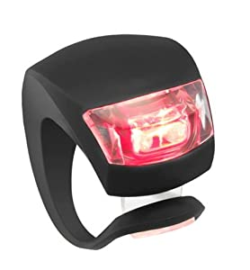 niceeshop(TM) Innovative Black Waterproof Silicone Wrap-around Rear Bicycle Light/Flashlight with 2 LED(Red Light)