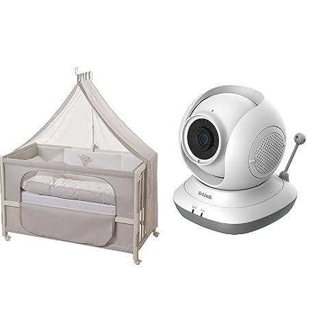 Roba 16300-3 P111 Disegno Orsocchiotto Camera da Letto, Bianco + D-Link DCS-855L EyeOn Baby Monitor, Risoluzione HD, Rotazione a 360° Motorizzata, Slot per MicroSD, Sensore di Temperatura, Bianco