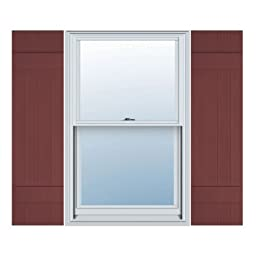 14W x 31H Standard Size Four Board Joined Shutters, w/Installation Screws, 078 - Wineberry Color: Wineberry Size: 14W x 31H Model: