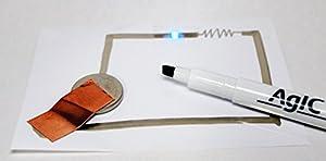 【タップリ書ける】AgIC 回路マーカー&A6回路用紙10枚セット!
