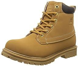 Fila Edgewater 12 Hiking Shoe (Little Kid/Big Kid), Wheat/Gum, 1 M US Little Kid